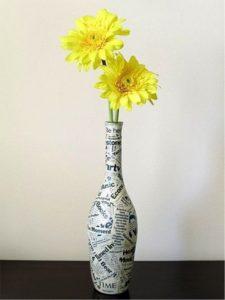 Vase decoupage