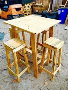 Wood Pallet Party Furniture Set