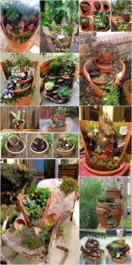 Broken Pots Turned into Brilliant Fairy Garden Ideas