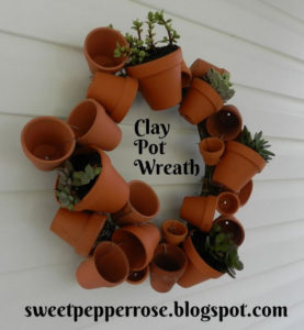 Clay Pot Wreath