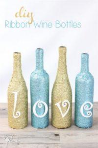 Glittery Wine Bottle