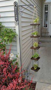 Hanging Planter With Mason Jars