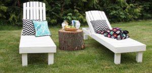 Pallet Garden Sun Loungers