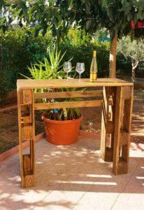 Pallet Patio Bar Table