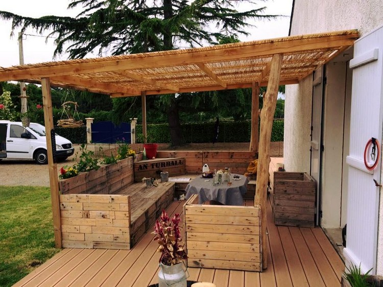 Pallet Pergola Couch