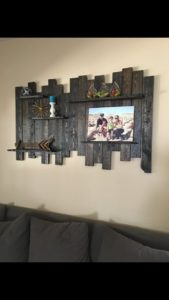 Recycled Pallet Wall Shelf