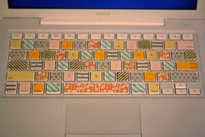 Washi Tape Laptop Keyboard