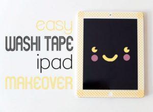 Washi Tape iPad Makeover