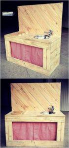 Wood Pallet Mud Kitchen for Kids