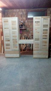 Wooden Pallet Wardrobe