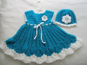 Baby Dress with Cochet