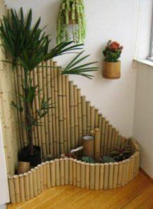 Bamboo Balcony Decor Idea