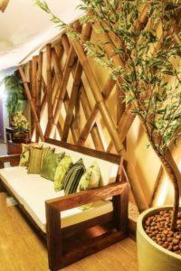 Bamboo Wall Decor Idea