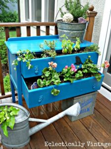 Beautiful Garden Planter Made with Used Drawers