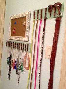 Belt Organizer with Clothespins