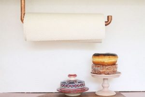 Copper Pipe Paper Towel Holder