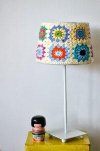 Crochet Covered Lamp