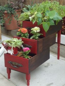 Cute Planter Made with Used Drawers