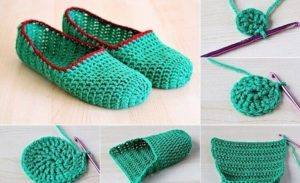 DIY Crochet Slipper