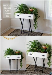 DIY Recycled Drawer Planter Stand