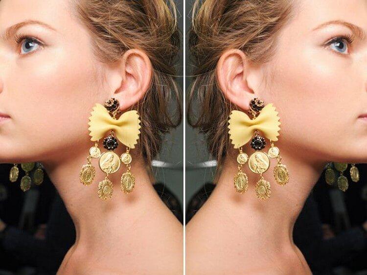 Dolce & Gabbana Pasta Earrings