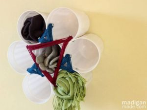 Easy Scarf Storage with Cups