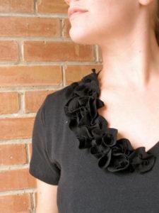 Fabric Flower T-Shirt Refashion