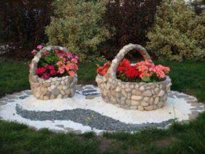 Garden Decor with Stones