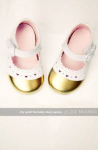 Gold Tip Baby Mary Janes