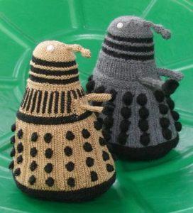 Knitted Dalek Plushie