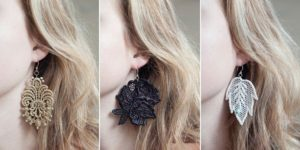 Lace Applique Earrings