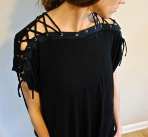 Laced Up Collar Sleeves