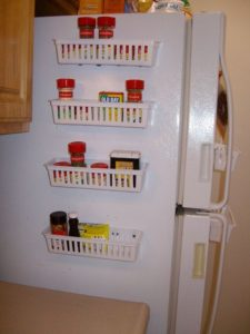 Magnetic Spice Rack For Refrigerator