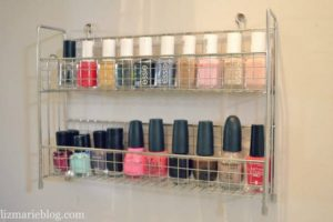 Nail Polish Holder with Spice Rack