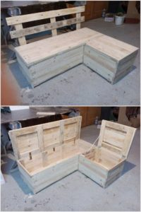 Pallet Sofa Bench with Storage