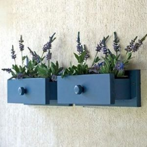Recycled Drawers wall Planters