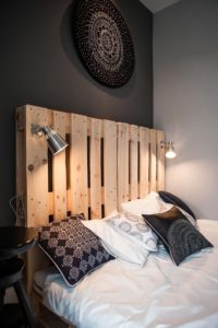 Recycled Wood Pallet Headboard