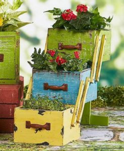 Rustic Planter Made with Used Drawers