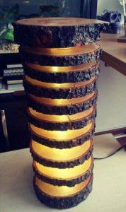 Rustic Wood Lamp Idea