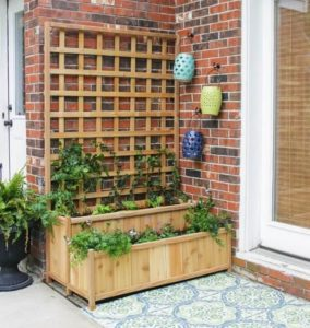 Tiered Planter with Trellis Garden Decor
