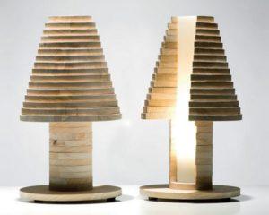 Unique Design Wooden Lamp