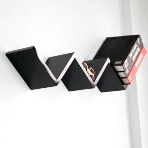 W Shape Unique Wall Shelf
