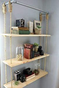 Wall Shelves Hanging with Rope