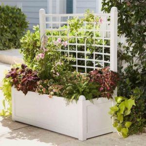 White Planter Box Garden Decor Project