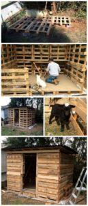 Wood Pallet Animals HOuse