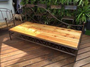 Wood Pallet Outdoor Seat