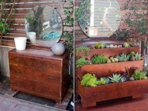 Wooden Chest Of Drawers Planter