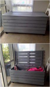 Wooden Pallet Storage Chest