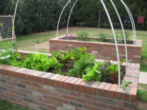 Brick Base Raised Garden Bed for Garden Decor