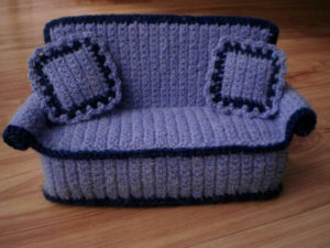 Crochet Couch with Cushions